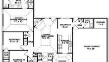 One Story Bedroom Bath Victorian Style House Plan Plans