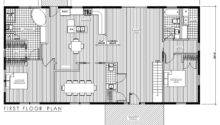 One Story House Plans Fox Timber Frame Six Plan