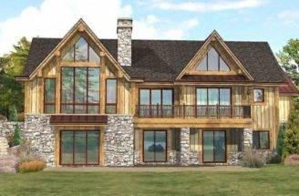 Open Concept Ranch Floor Plans Lakefront Log Home