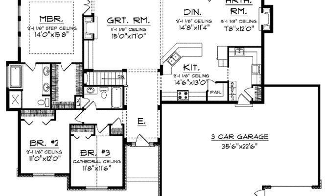 Open Floor Plan Hmaffdw Prairie Style House Plans