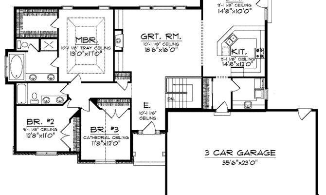 Open House Plans Plan Ranch Hwbdo