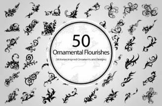 Ornamental Flourishes Vector Objects Creative Market