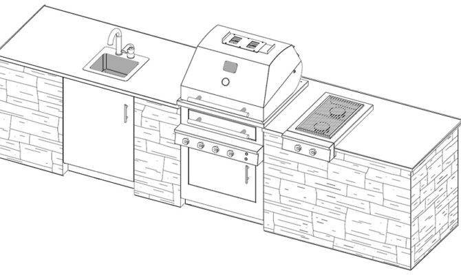 Outdoor Kitchen Plans Cad Pro