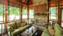 Outdoor Porch Fireplaces Four Season