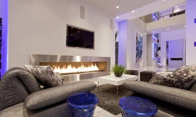 Outstanding Modern Living Room Fireplace Design Ideas