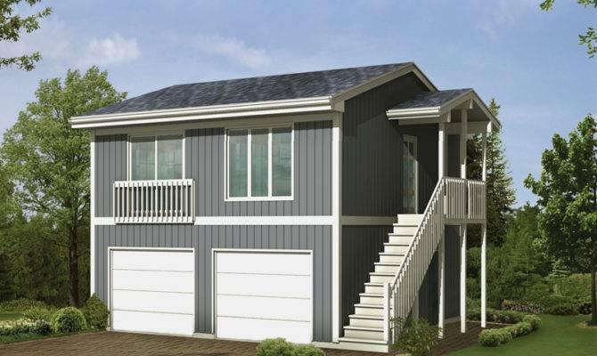 Parker Studio Apartment Garage Plan House Plans More