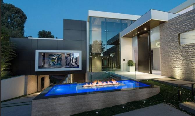 Part One Modern Mansion Wrap Around Pool Glass Walled Garage