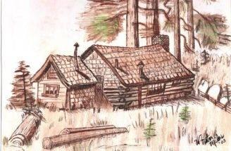 Pencil Drawing Log Cabin Joy Studio Design Best