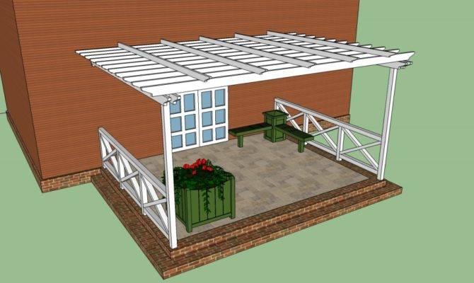 Pergola Attached House Plans