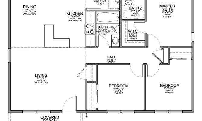 Plan Affordable House Bedrooms Bathrooms