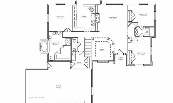 Plan Bedroom Ranch House Basement