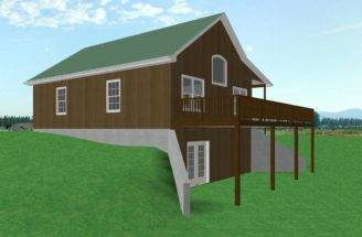 Plan Cabin Walkout Basement Country House