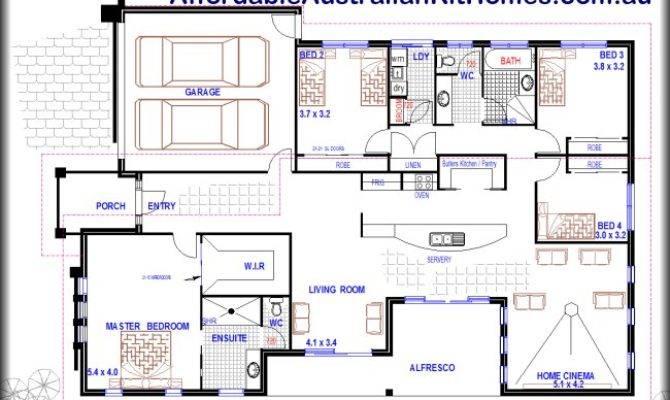 Plan Design Bedroom Storey Home Australian Kit Homes