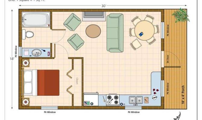 Plan Modern Casita House One Bedroom Studio Guest Plans