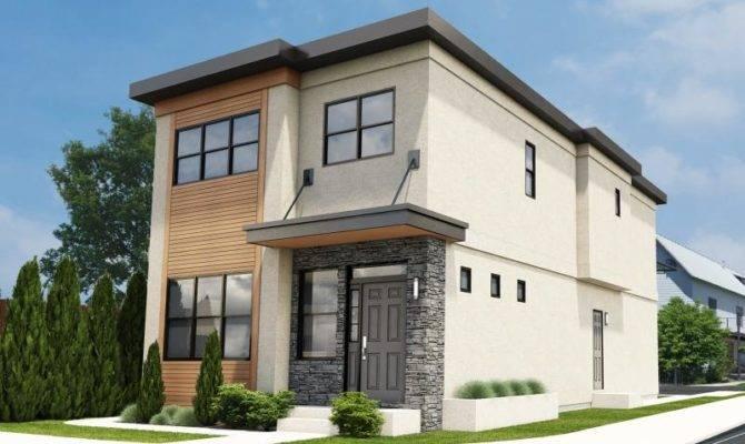 Plan Narrow Lot Contemporary Duplex House