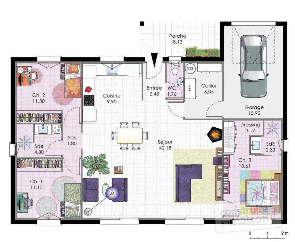 Plan petite maison moderne maison moderne for Plan petite maison m
