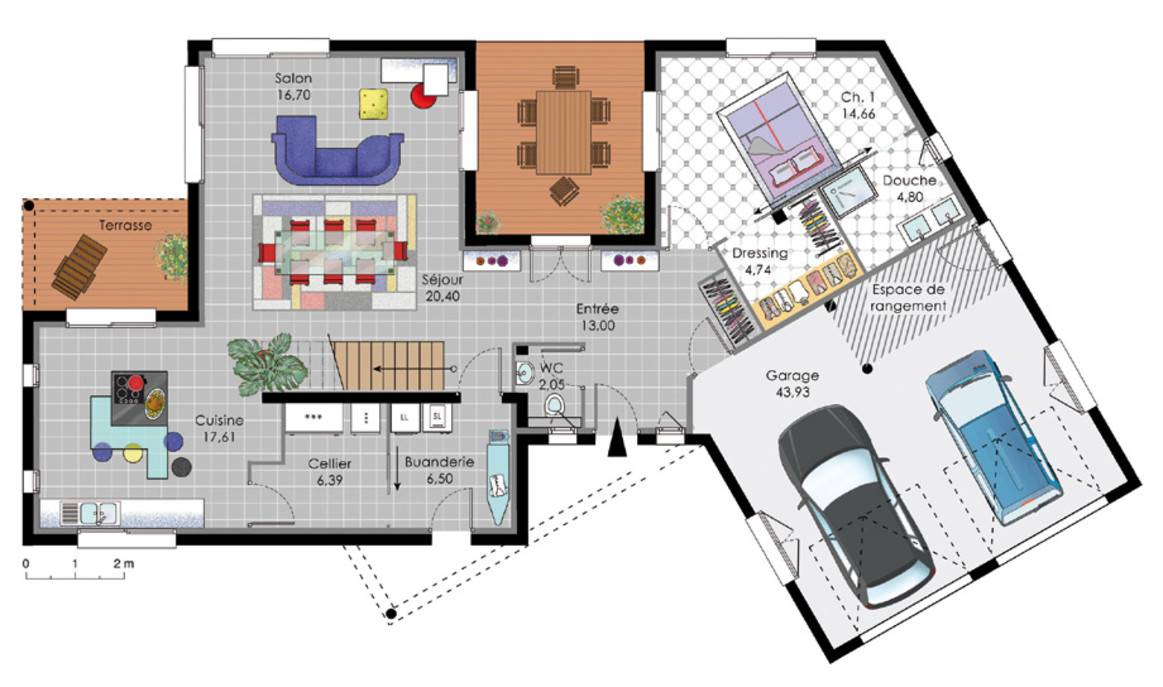 Plan petite maison moderne simple home plans for Maison moderne plan