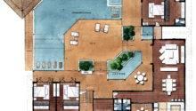Plans Architectural Designs House Modern Villa Floor