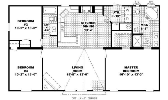 Plans Basement Ranch Style House Open