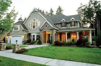 Plans Country Style House Exterior Home Craftsman Homes