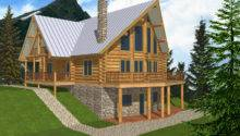 Plans Log Cabin House Modern Mountain Home