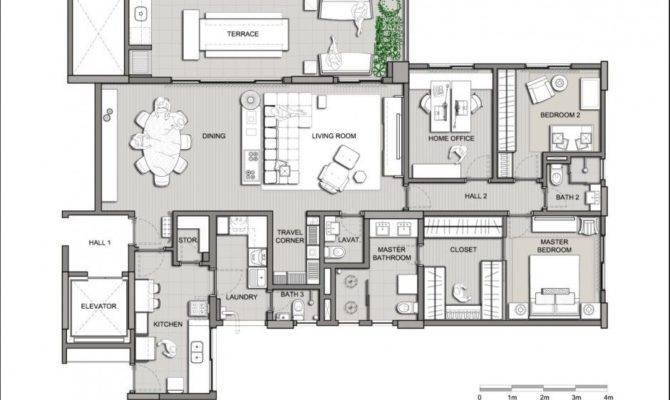 Plans Modern House Villa