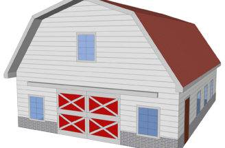 Plans Shed Roof Pole Barn Gambrel Loft Small