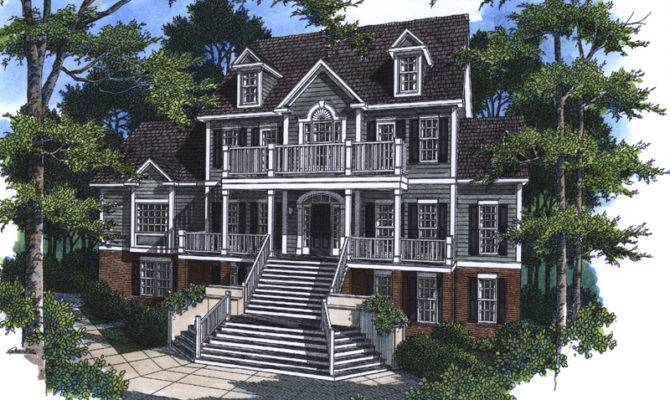 Plans Southern Plantation House Country More