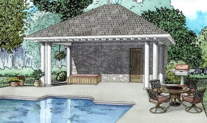 Pool House Plans Plan Equipment Storage Bath