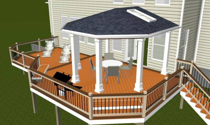 Porch Outdoor Fireplace Maryland Custom Builder Decks