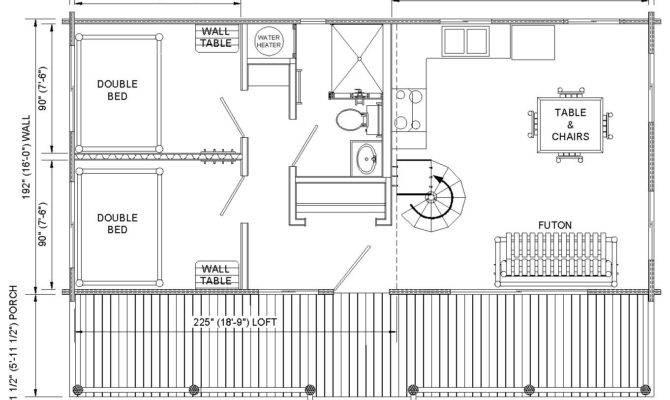 18 Best Simple Log Cabin Floor Plans Free Ideas - Home Plans