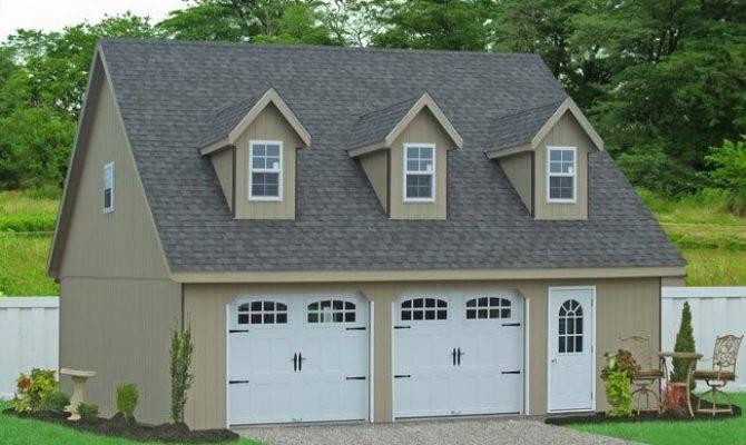 Prefab Garages Attic Loft Space Two Car Amish