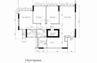 Punggol Room Hdb Original Floor Plan Vincent Interior Blog