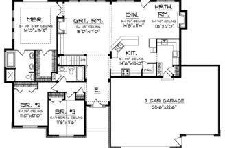 Ranch Home Plans Open Floor Plan