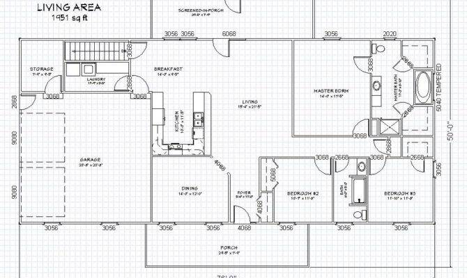 Ranch House Plan Basement