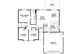 Ranch House Plans Copperfield Associated Designs