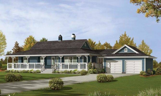 Ranch Style House Plans Basement Wrap Around Porch Source