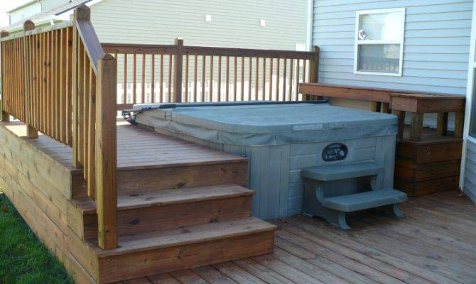 Recessed Hot Tub Grill Bump Out