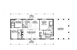 Rectangular House Plans Bedroom Bath Quotes