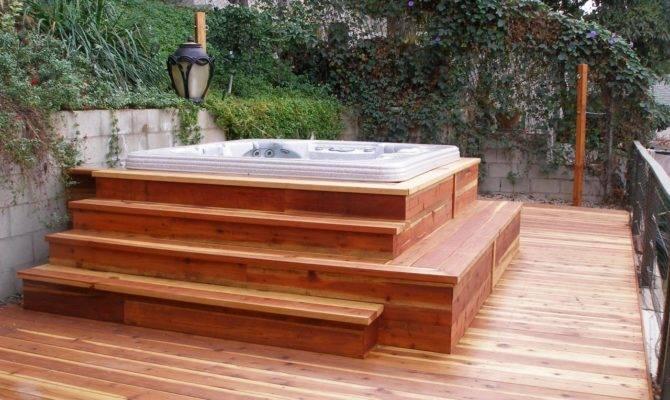 Redwood Decks Hot Tubs Design Jamesgathii