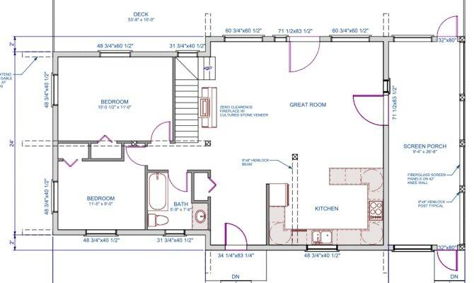 Related Open Kitchen Floor Plans