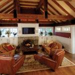 Room Addition Rustic Beams Vaulted Ceiling Level