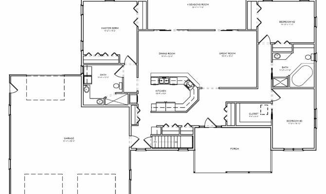 Room House Plan Split Bedroom Great Car Garage