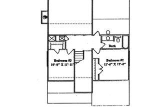 Saltbox House Plan Second Floor Plans More