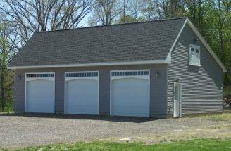 Saltbox Style One Story Garage Barn Yard Great Country Garages