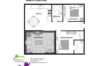 Sample Floor Plan Kitchen Bathroom Guest Room Living