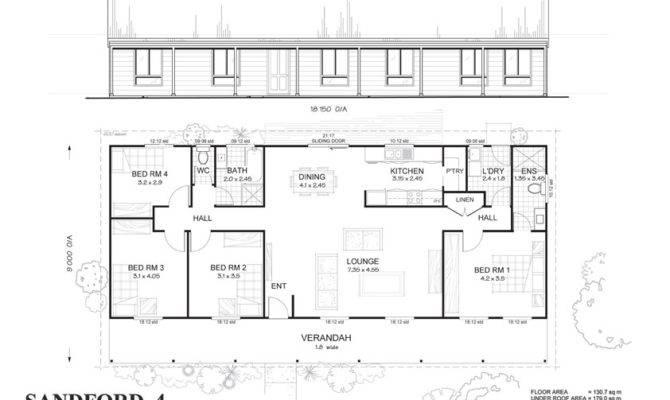 Sandford Met Kit Homes Bedroom Steel Frame Home Floor Plan