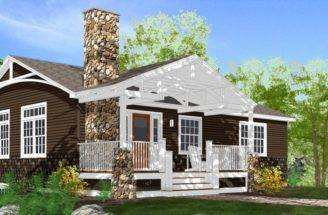 Scout Lake Cottage Two Story House Plans