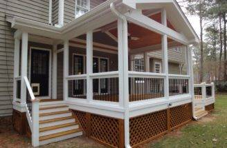 Screen Porch Side Entrance Wilmington Deck