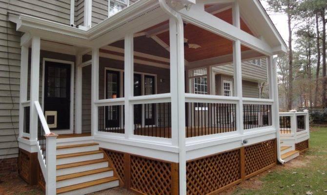 Screen Porch Side Entrance Wilmington Deck